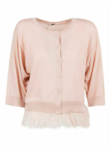 Parosh Chantal Fringed Hem Buttoned Cardigan