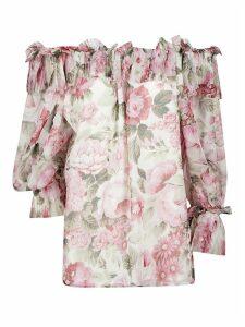 Parosh Pochic Floral Print Top
