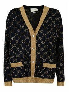 Gucci Logo Motif V-neck Buttoned Cardigan