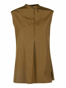 Aspesi Concealed Placket Sleeveless Top
