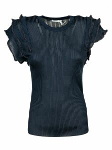 Chloé Ruffled Sleeve Ribbed Top