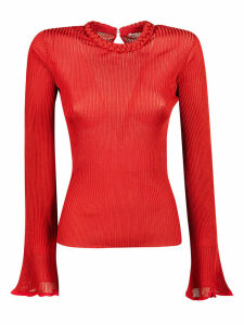 Chloé Ribbed Knit Long-sleeved Top