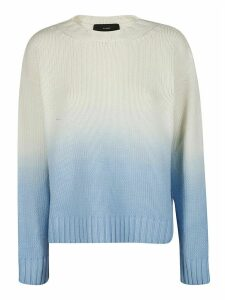Alanui White And Blue Wool Jumper
