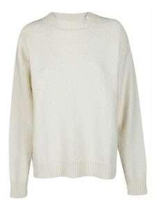Jil Sander White Cotton Jumper
