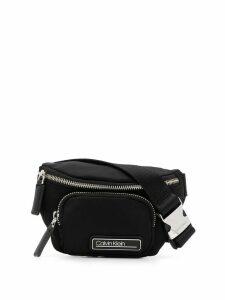 Calvin Klein logo plaque belt bag - Black