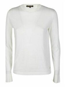 Loro Piana White Cotton-silk Blend Jumper