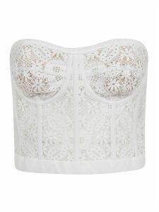 Alexander McQueen Cot Lace Bust Top