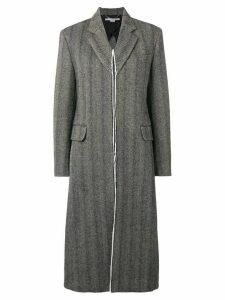 Stella McCartney tweed long coat - Black