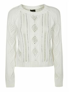 Ermanno Scervino Cropped Knit Sweatshirt