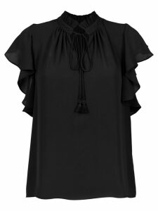 Olympiah Juli frill trimmed blouse - Black