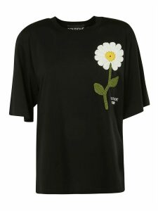 Moschino Knitted Flower Oversized T-shirt