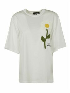 Moschino Knitted Flower Oversized T-shirt