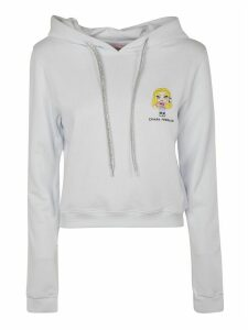 Chiara Ferragni Logo Embroidered Patch Hoodie