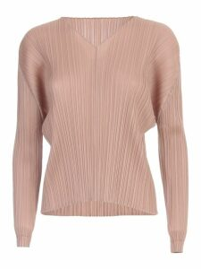 Pleats Please Issey Miyake Sweater L/s V Neck