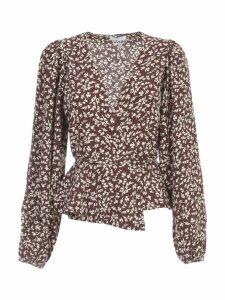 Ganni Printed Crepe Sweater L/s Fantasy