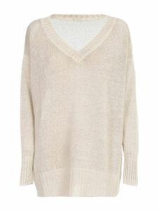Avant Toi V Neck Linen Pullover
