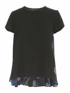 Sacai Sun Surf Monstera T-shirt Gathered Back W/pocket