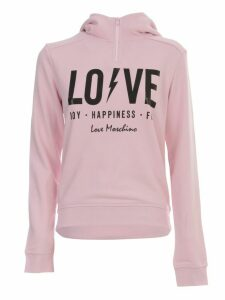 Love Moschino Hooded Sweatshirt W/written
