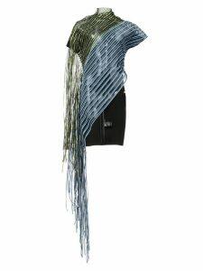 Paula Knorr asymmetric fringed top - Green