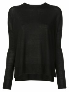 Derek Lam 10 Crosby Boxy crew neck Sweater - Black