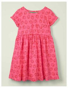Fun Jersey Dress Pink Women Boden, Camel