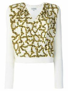 Carven link print envelope blouse - White