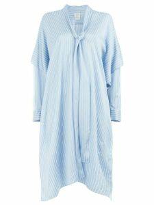 Maison Rabih Kayrouz flared striped dress - Blue