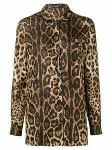 Dolce & Gabbana printed longsleeved blouse - Brown