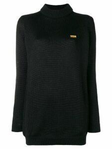 Gcds longline logo sweater - Black