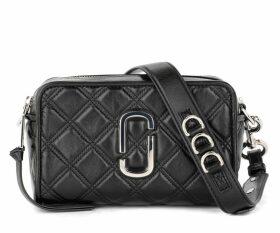 The Marc Jacobs Softshot 21 Model Shoulder Bag In Black Quilted Leather