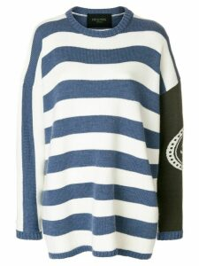 Mr & Mrs Italy striped boxy jumper - Blue