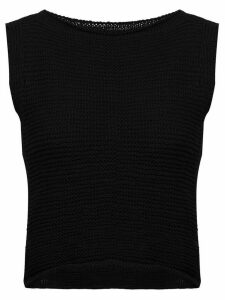 Voz knitted crop top - Black