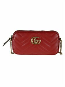 Gucci Double G Plaque Chain-strapped Shoulder Bag
