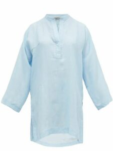 Three Graces London - Belinda Crepe Tunic Top - Womens - Light Blue
