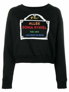 Sonia Rykiel logo-print sweatshirt - Black