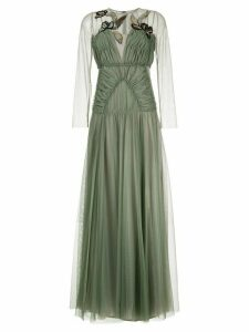 Antonio Marras gathered tulle dress with embroidery - Green