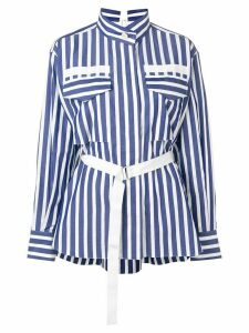 Sacai open back shirt - Blue