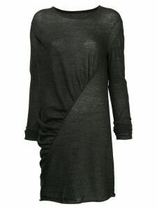 Uma Wang asymmetric longline top - Grey