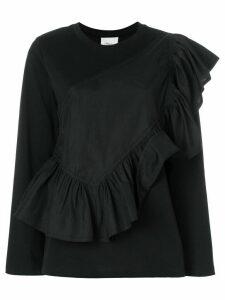3.1 Phillip Lim Flamenco long-sleeve T-shirt - Black