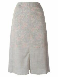 Julien David slit skirt - Grey