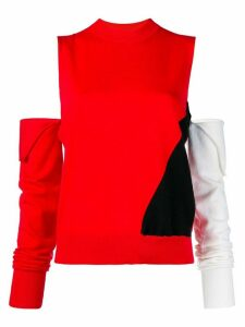 Calvin Klein 205W39nyc cut-out colour-block sweater - 063 RED BLACK