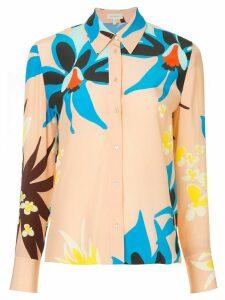 Delpozo floral print shirt - PINK
