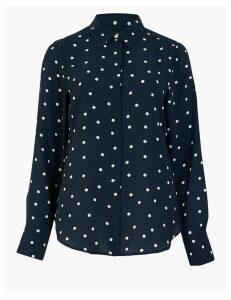M&S Collection Polka Dot Long Sleeve Shirt