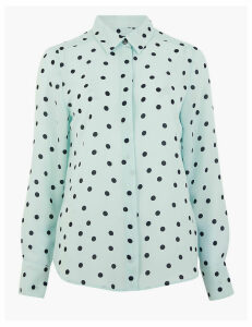 M&S Collection Polka Dot Long Sleeve Shirt