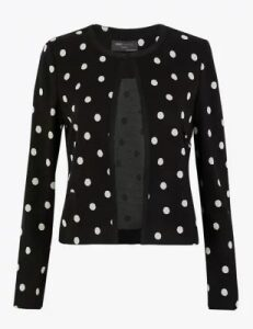 M&S Collection Jersey Polka Dot Blazer
