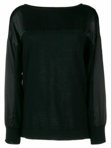 Alberta Ferretti lace panel sweatshirt - Black
