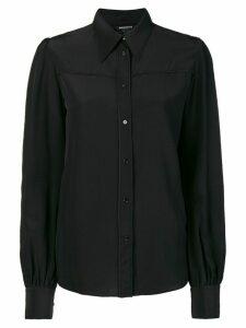 Rochas longsleeved button blouse - Black