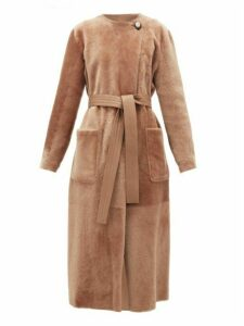 Altuzarra - Clark Reversible Shearling And Leather Coat - Womens - Brown