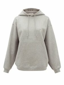 Balenciaga - Logo-embroidered Cotton-jersey Hooded Sweatshirt - Womens - Grey