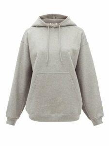 Balenciaga - Logo-embroidered Cotton-jersey Hooded Sweatshirt - Womens - Grey
